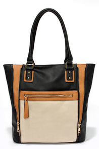 Totes Chic Black Color Block Tote at Lulus.com!
