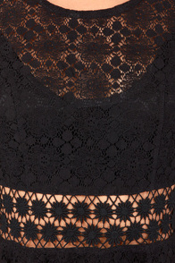 Afternoon in the Park Black Lace Dress at Lulus.com!