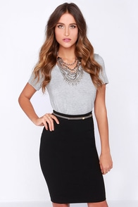 Zip and Run Black Pencil Skirt at Lulus.com!