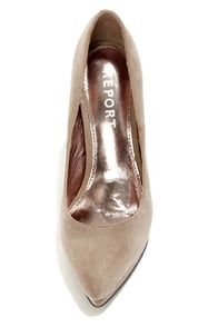 Report Tanzy Taupe Suede Pointed Platform Heels at Lulus.com!