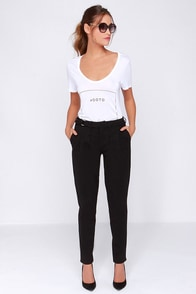 Dittos Connie High Waisted Black Pants at Lulus.com!