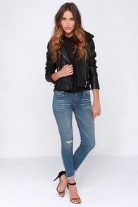 Roll Up For What Distressed Medium Wash Skinny Jeans at Lulus.com!