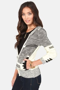 Creative Native Black and Cream Sweater at Lulus.com!