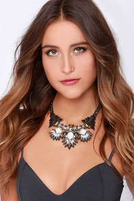 Gem of Arc Ivory Rhinestone Statement Necklace at Lulus.com!