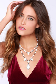 Shape Shifter Ivory Rhinestone Necklace at Lulus.com!