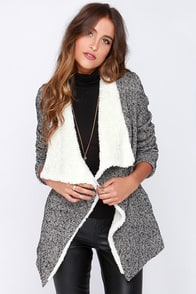 Townie Points Black And Ivory Jacket at Lulus.com!