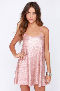 My Lucky Star Blush Pink Sequin Dress at Lulus.com!