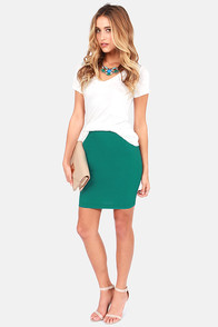 Unlimited Allure Teal Pencil Skirt at Lulus.com!