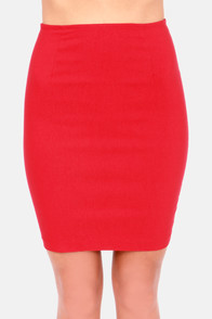 Unlimited Allure Red Pencil Skirt at Lulus.com!