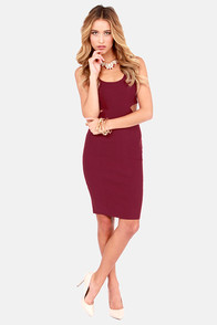 I Feel Midi Cutout Wine Red Dress at Lulus.com!
