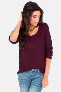 Casual Remarkable Burgundy Sweater at Lulus.com!