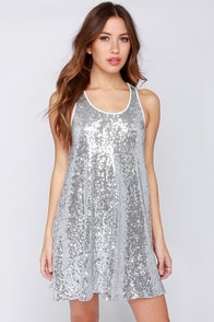 LULUS Exclusive Mirror Ball Silver Sequin Dress at Lulus.com!