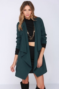 Roam Around the World Teal Blue Coat at Lulus.com!
