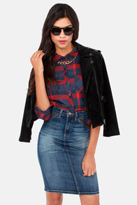Blank NYC Rebel Denim Pencil Skirt at Lulus.com!