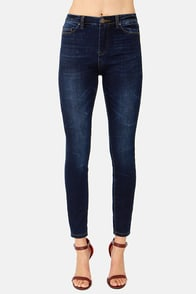 Blank NYC Hoarder Dark Wash High-Rise Ankle Skinny Jeans at Lulus.com!