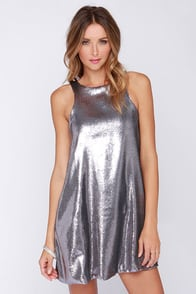 Glamorous Shining Amour Pewter Sequin Dress at Lulus.com!
