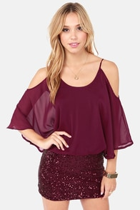 Cast a Spell Burgundy Sequin Dress at Lulus.com!