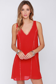 Jack and Sally Beaded Red Dress at Lulus.com!