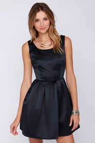 Glamorous Come Wassail Away Navy Blue Skater Dress at Lulus.com!