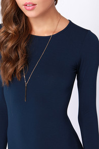 LULUS Exclusive Comeback Baby Navy Blue Dress at Lulus.com!