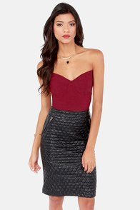 Short Fuse Wine Red Bustier Top at Lulus.com!