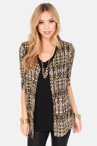 It's Been A Wild Brown and Black Print Top at Lulus.com!