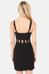 Hey Girl Cutout Black Dress at Lulus.com!