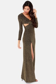 Starry Skies Black and Gold Maxi Dress at Lulus.com!