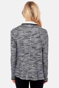 We're Sweater Together Grey Wrap Sweater at Lulus.com!