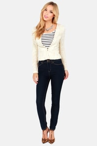 On Cloud Nine Cropped Cream Blazer at Lulus.com!