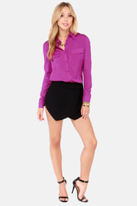 Rad to Hear It Magenta Button-Up Top at Lulus.com!