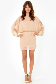 Wrist-ful Thinking Beaded Peach Dress at Lulus.com!