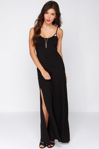 Billabong Small Glitch Black Maxi Dress at Lulus.com!