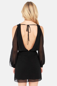 In Good Waist Backless Beaded Black Dress at Lulus.com!