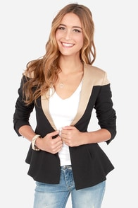 V are in Charge Beige and Black Blazer at Lulus.com!