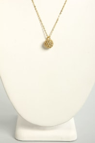 Sphere and Now Gold Necklace at Lulus.com!