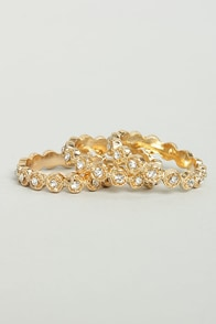 A Stone To Call My Own Gold Ring Set at Lulus.com!