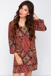 Billabong Gypsy Sol Multi Print Dress at Lulus.com!