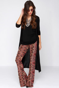 Billabong Gypsy Den Multi Print Pants at Lulus.com!