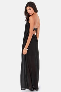 Column What You Like Strapless Black Maxi Dress at Lulus.com!