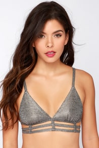 RVCA Babe Parade Pewter Bralette at Lulus.com!