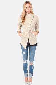 Broadway Intermission Beige Coat at Lulus.com!