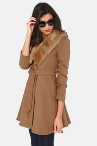 Fur Give and Fur Get Tan Frock Coat at Lulus.com!