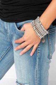 Madame Bijoux Silver Bracelet at Lulus.com!