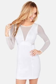 Need Your Love Cutout Ivory Dress