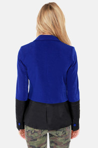 Scholar ID Black and Royal Blue Blazer at Lulus.com!