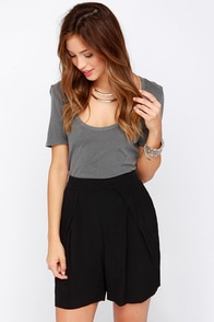 Rise to the Occasion Black High-Waisted Shorts at Lulus.com!