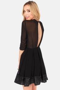 BB Dakota India Black Dress at Lulus.com!