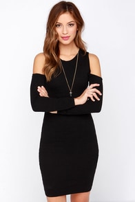 Irreversible Black Sweater Dress at Lulus.com!