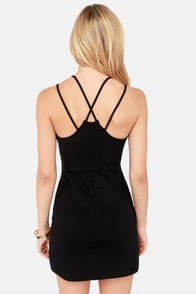 Strap Me Silly Black Bodycon Dress at Lulus.com!